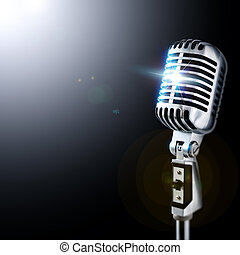 microfone, holofote