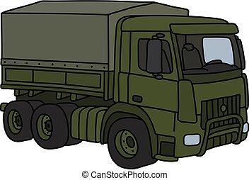 militar, cáqui, caminhão