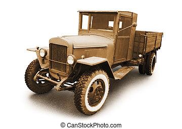 militar, retro, car