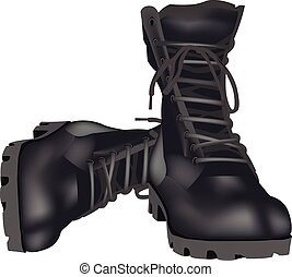 militar, sapatos, anfíbios