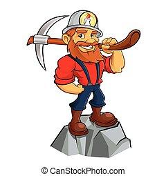 mineiro, ouro, caricatura