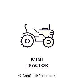 mini, vetorial, golpes, editable, ilustração, sinal, fundo, ícone, linha, trator
