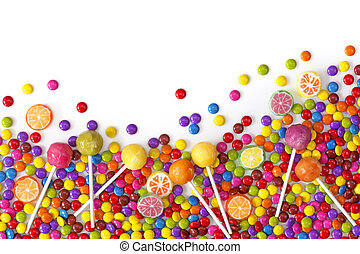 misturado, doces, coloridos
