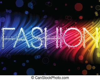 moda, coloridos, abstratos, experiência preta, ondas