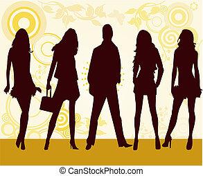 moda, meninas