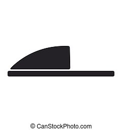 moda, sandal., chinelos, claro, doméstico, vetorial, pretas, modelo, em branco, par, lar, sandálias, macio, casual, morno