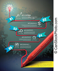 modelo, mapa, desenho, marca, criativo, caneta, fluxo, infographic