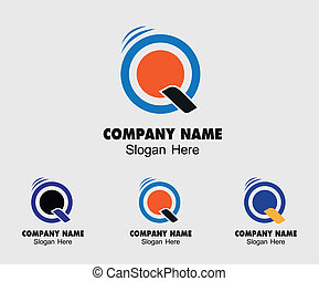 modelo, símbolo, -, q, letra, logotipo