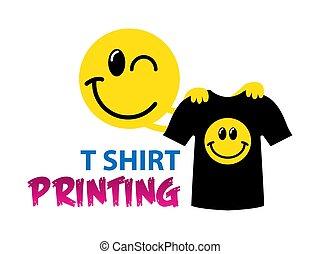 modelo, vetorial, engraçado, printing., logotipo, t-shirt