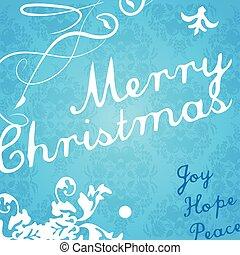 modernos, card., convite, natal