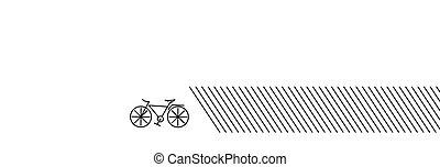 modernos, desenho, arte, illustration., linha, ciclismo, vetorial, apartamento