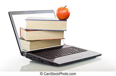modernos, educação, aprendizagem, online
