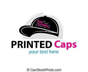modernos, printable, marcar, fundo, serigraphy, vetorial, abstratos, cap., impressão, incorporado, colorido, fábrica, logotipo, cinzento, oficina, identidade, modelo, tipografia, isolado
