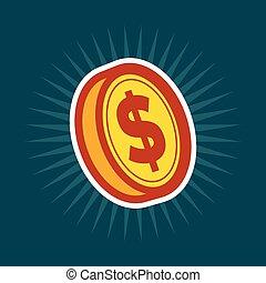 moeda, dólar, ouro