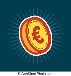 moeda, ouro, euro