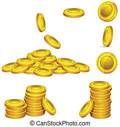 moeda, ouro