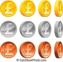 moedas, libra