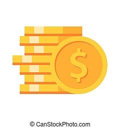 moedas ouro, pilha