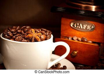 moedor café, fundo