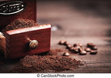 moedor café, pó