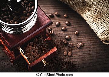 moedor, feijões café
