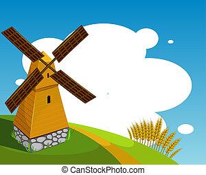 moinho de vento, fundo