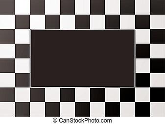mono, quadro, checkered, quadro