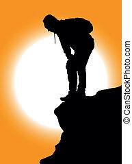 montanha, escaladores