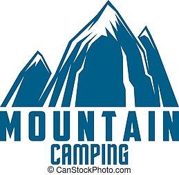 montanha, símbolo, aventura ao ar livre, acampamento