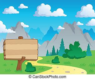 montanha, tema, 2, paisagem