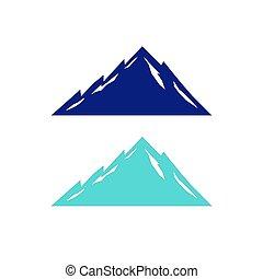 montanhas azuis, desenho, branca