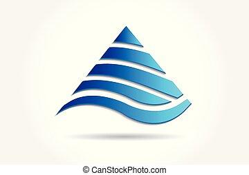 montanhas, logotipo