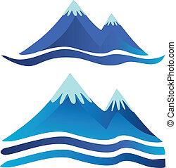 montanhas, logotipos