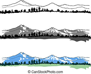 montanhas, paisagens