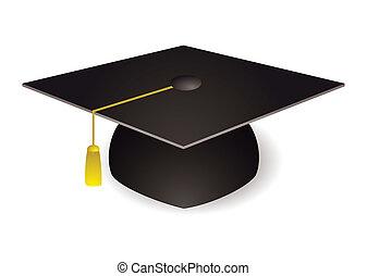 morteiro, chapéu, tábua, graduação
