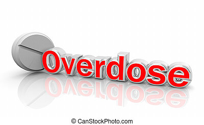 mortos, perigo, drogas, od, ilustração, medicina, overdose, pílulas, 3d