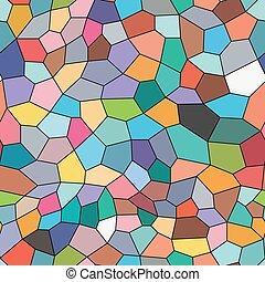 mosaico, fundo, seamless, coloridos, style.
