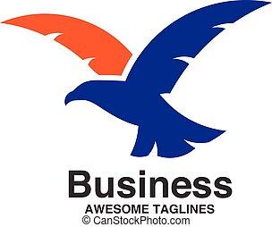 mosca, águia, criativo, logotipo