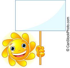 mostra, sinal, sol