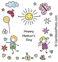 mother`s, feliz, dia