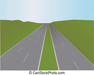 motorway, vetorial, -, ilustração
