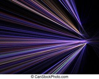 movimento, cidade, velocidade, luzes, borrão
