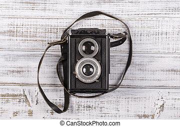 muito, fim, câmera, antigas, cima