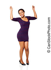 mulher feliz, africano