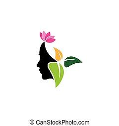 mulher, máscaras, vetorial, ilustração, rosto, imagem