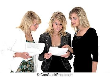 mulher, três, negócio 4
