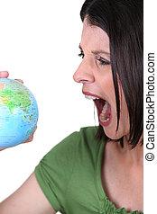 mulher zangada, globo