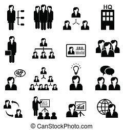 mulheres negócios, ícones