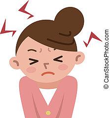 mulheres, tensão, frustrado