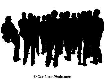 multidões, pessoas